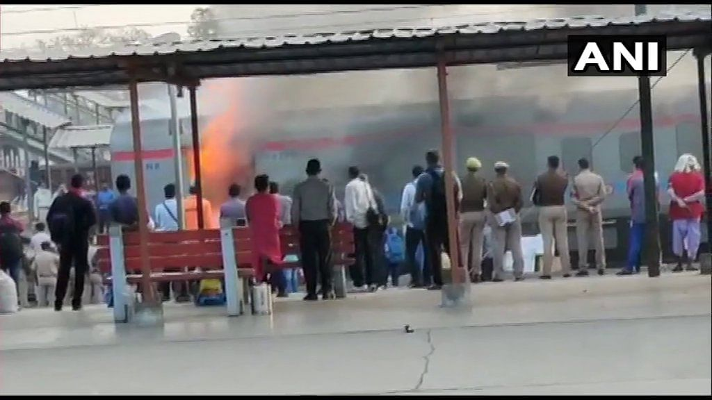 The generator car of Shatabdi Express caught fire at Ghaziabad railway station