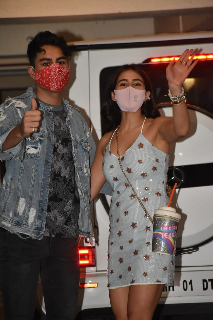 In Pics: Sara Ali Khan's quirky bag of 'Unicorn Tears' steals the show at Ibrahim's birthday bash
