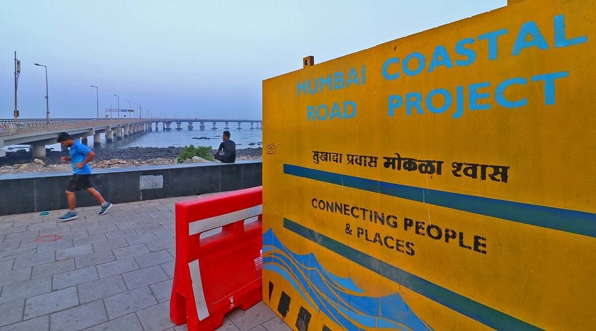 By 2050, prolonged flooding is predicted in Mumbai's low-lying areas in the monsoon. However, work on the coastal road project is in full swing