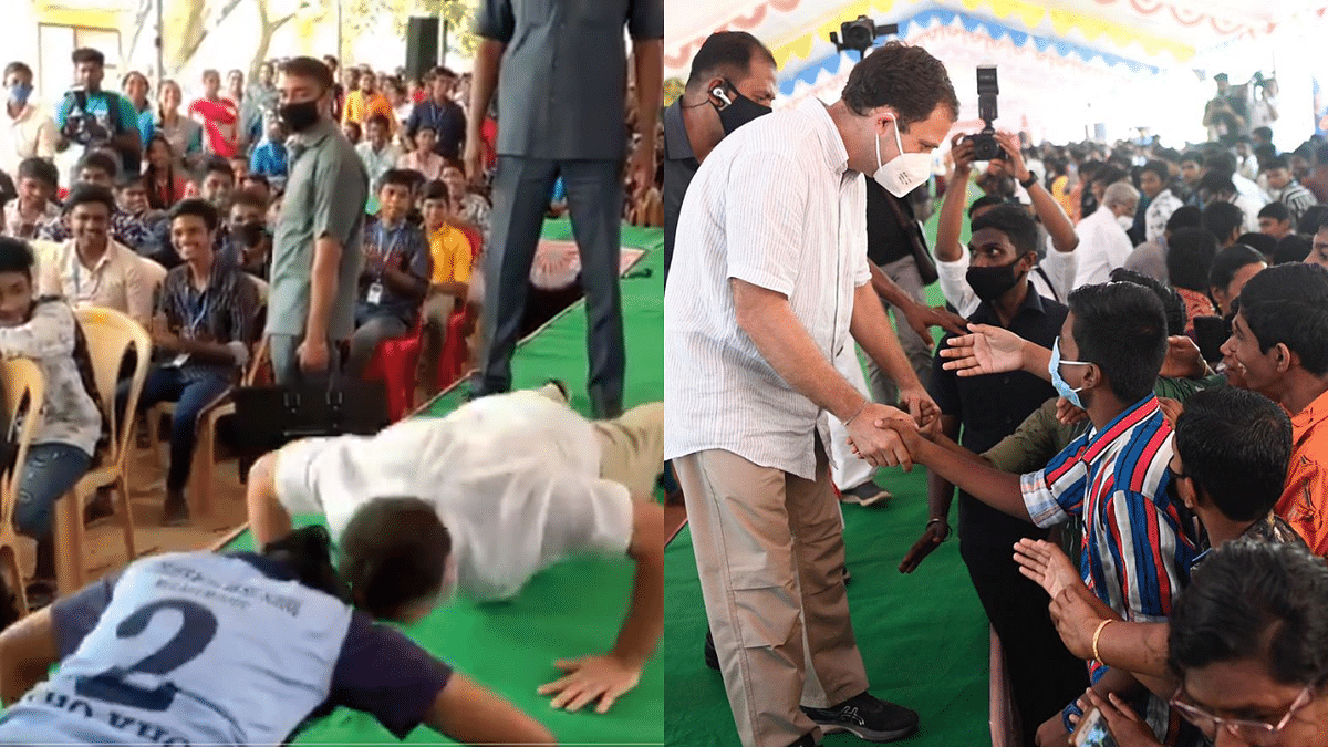 After fit abs, it's power push-ups; a video of Rahul Gandhi doing push-ups is going viral on Twitter