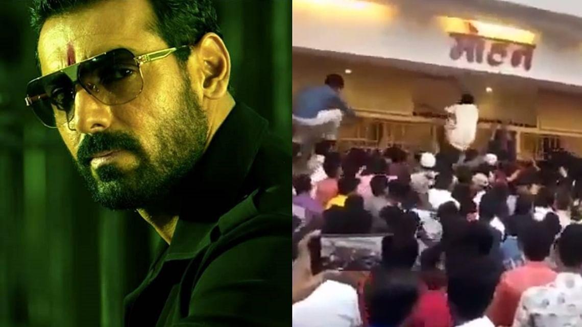 Watch: Crowd storms Nashik cinema hall screening John Abraham-starrer 'Mumbai Saga'