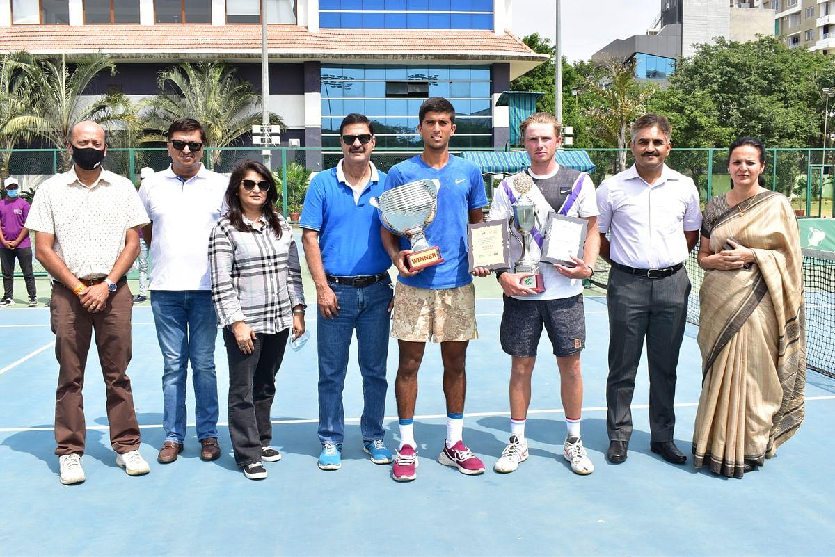 Winner with trophy