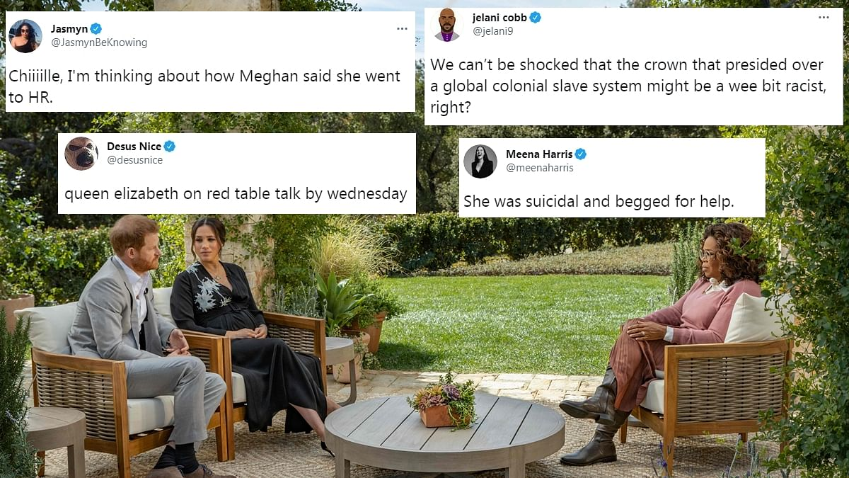 Twitter reacts to Meghan and Harry's brush with royal racism, losing protection and more