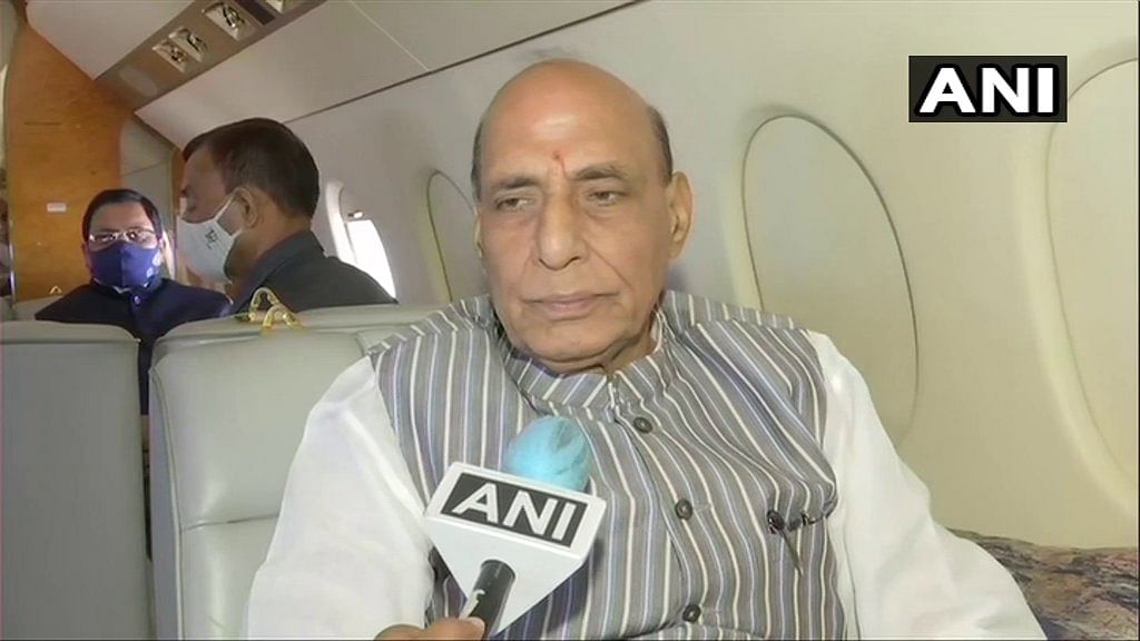 Out of desperation to win elections, Mamata Banerjee blaming BJP for her leg injury: Rajnath Singh