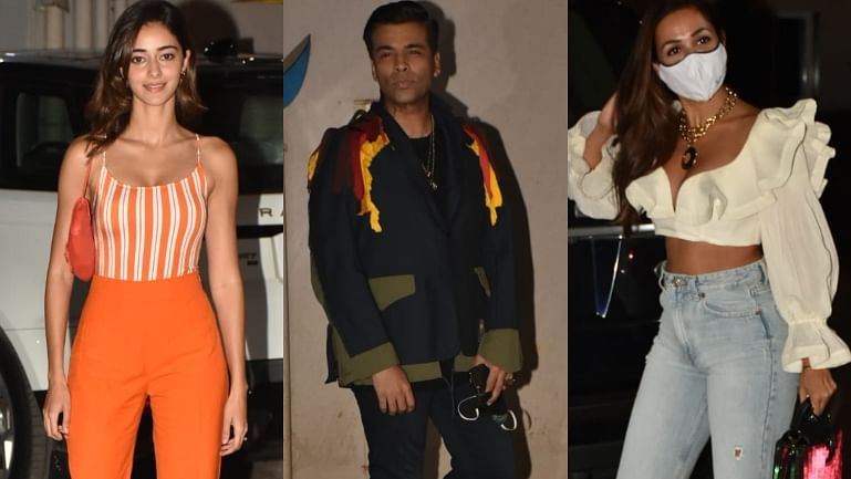In Pics: Karan Johar, Ananya Panday, Malaika Arora and other Bollywood attend Bunty Sachdeva's house party