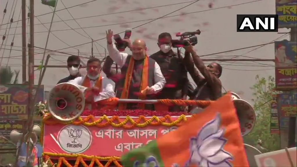 West Bengal polls: Amit Shah holds roadshow in Nandigram amid 'Jai Shri Ram' chants