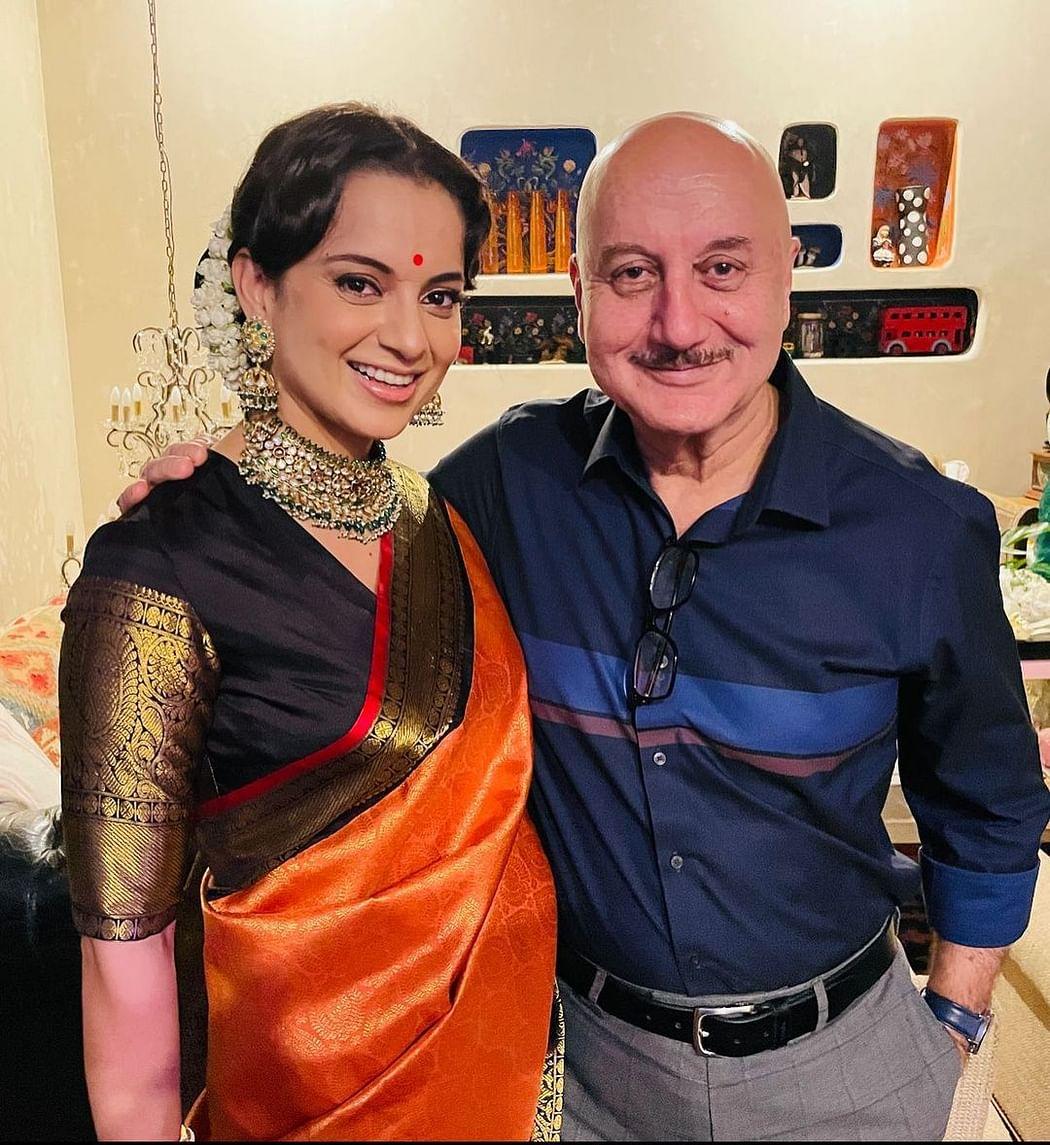 Kangana with Anupam