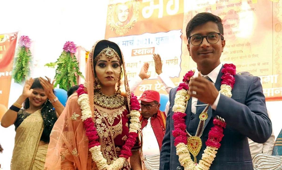 Newly-married Sachin Singh and Asma Singh.
