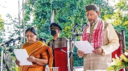 11 ministers take oath in new Uttarakhand CM's Cabinet