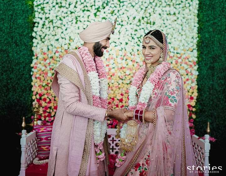 Indian pacer Jasprit Bumrah ties the knot with sports presenter Sanjana Ganesan - check out pics here