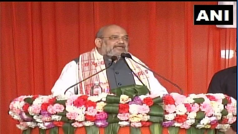 Amit Shah promises a flood-free Assam if BJP is elected ahead of Assembly polls