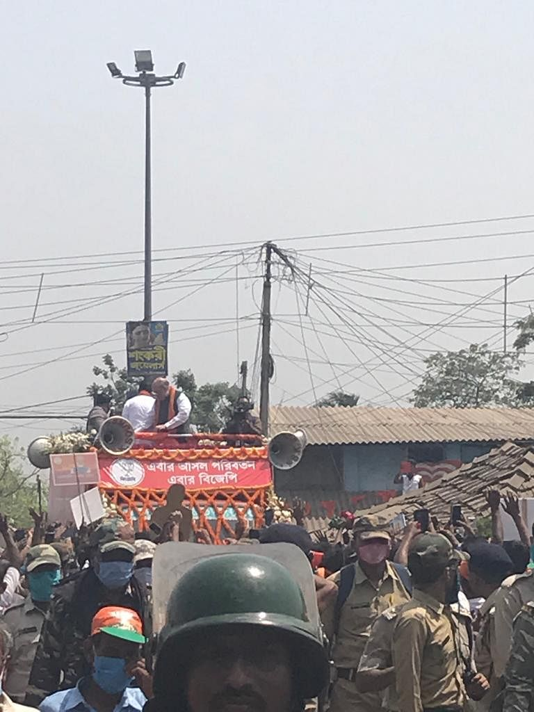 West Bengal Assembly Polls: Sea of people seen at Amit Shah's Nandigram rally