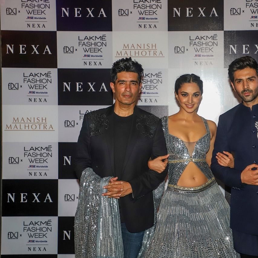 FDCI x Lakme Fashion Week 2021: 'Bhool Bhulaiyaa 2' stars Kartik Aaryan, Kiara Advani turn showstoppers for Manish Malhotra