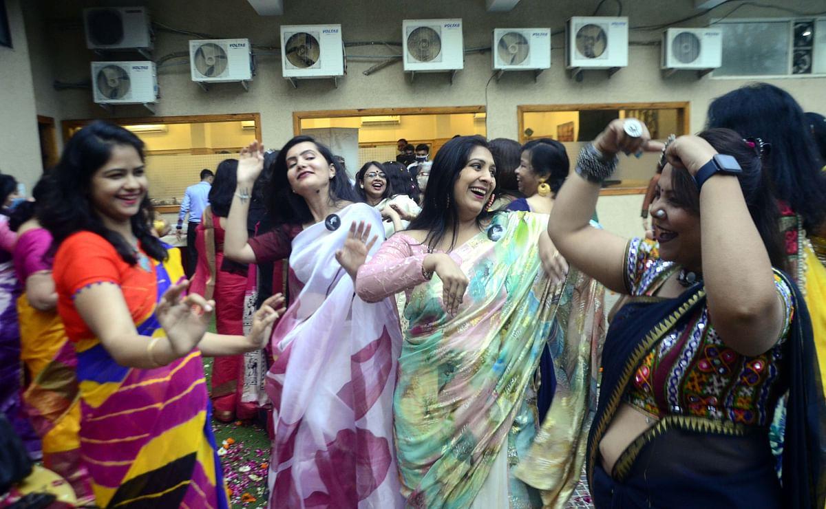 Despite spurt in coronavirus cases, pre-Holi celebration organised at Bhojpur Club on Friday.