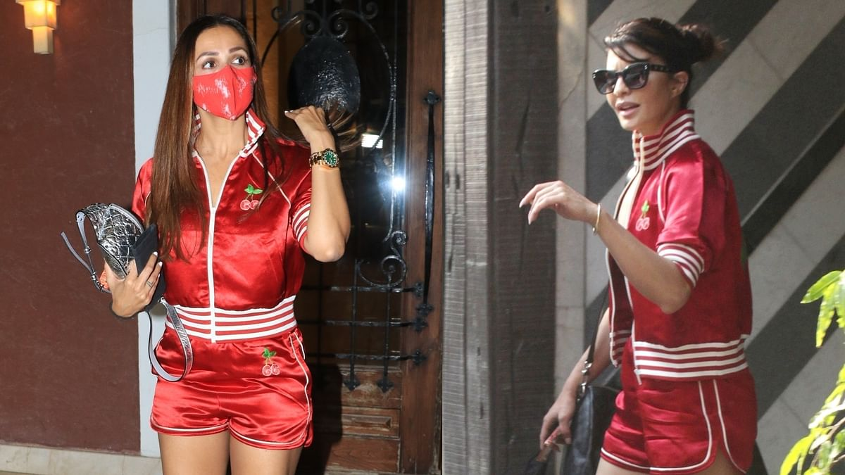 Malaika Arora or Jacqueline Fernandez - who wore the Rs 1.5 lakh worth Gucci cherry short suit better?