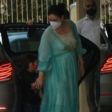 Ouch! Taimur Ali Khan bangs his head into glass door as he tries to run away from paparazzi; watch video