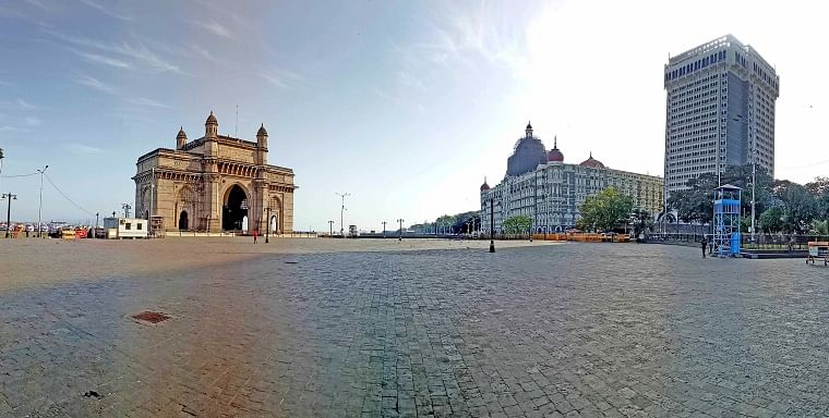 One of the major attractions of the city, the Gateway of India witnessed zero tourist amid lockdown