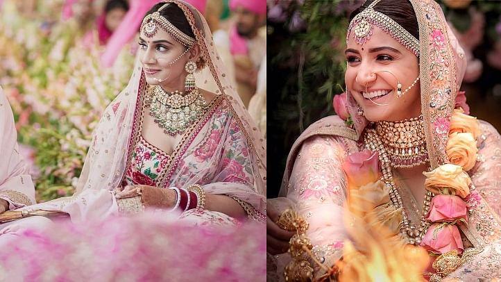 'Kohli, Anushka literally changed the hue of weddings': Twitter reacts to Jasprit Bumrah, Sanjana Ganesan's pink wedding theme
