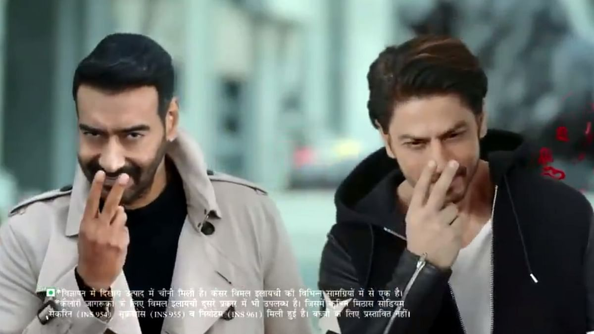 'Baap of all Avengers': Twitter rolls out hilarious memes, jokes after Shah Rukh Khan features in Vimal ad with Ajay Devgn