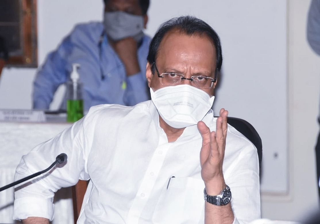 Maharashtra Dy CM Ajit Pawar takes stock of Fashion Street fire in Pune