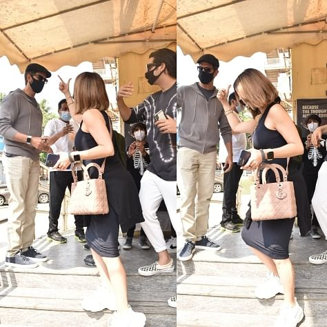 In Pics: Sussanne Khan sports short hair as she arrives for 'Godzilla Vs. Kong' with ex-husband Hrithik Roshan, kids