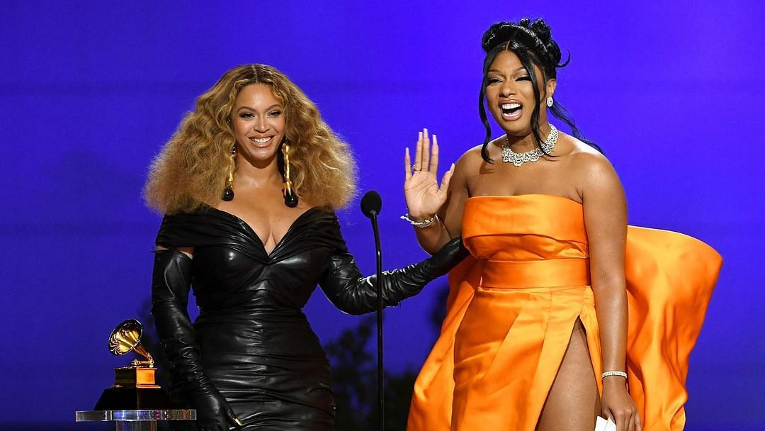 Beyonce with Megan Thee Stallion
