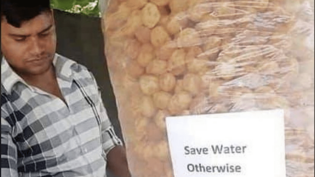 THIS pani puri vendor's hilarious 'save water' poster will make you laugh out loud