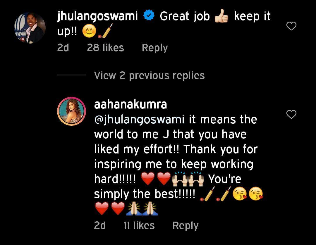 Aahana Kumra shamed online for sporting 'darker skin' in her pictorial tribute to cricketer Jhulan Goswami