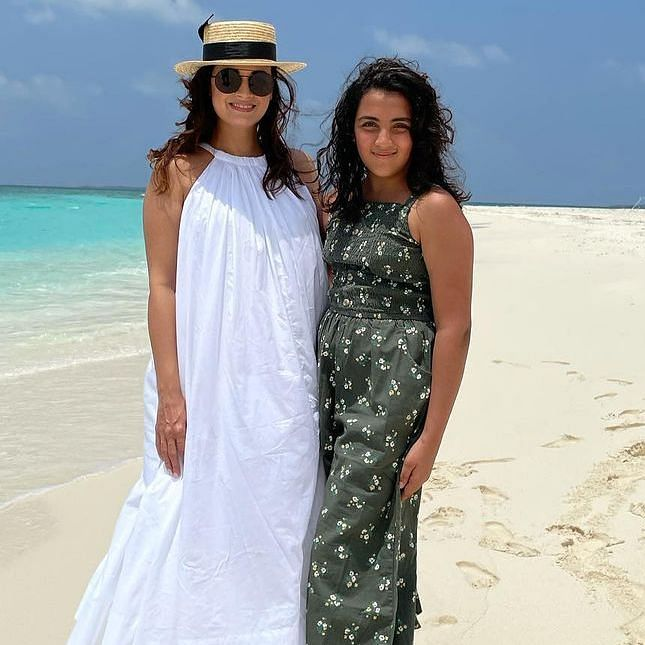 Vaibhav Rekhi's daughter accompanies him and Dia Mirza for honeymoon in the Maldives