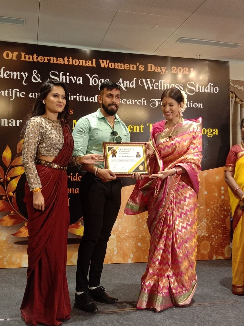 Fitness trainer Radhe Kumawat felicitated