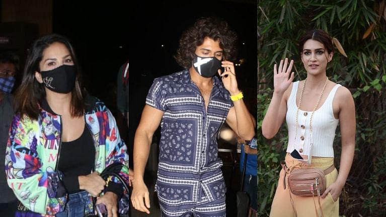 In Pics: Vijay Deverakonda, Sunny Leone, Kriti Sanon and other celebs spotted in Mumbai