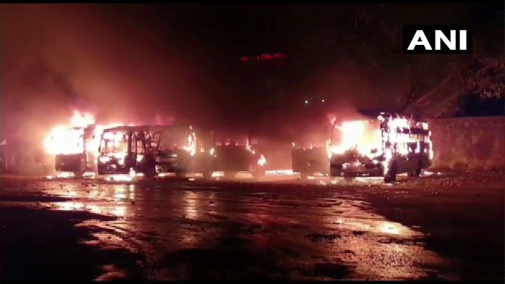 Madhya Pradesh: Watch video: Seven buses gutted in fire in Damoh, no casualties reported