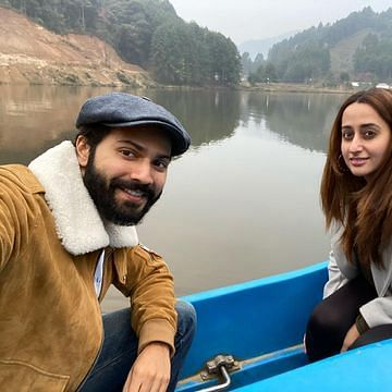 Varun Dhawan, Natasha Dalal enjoy boat ride in Arunachal Pradesh, actor says 'not on a honeymoon'