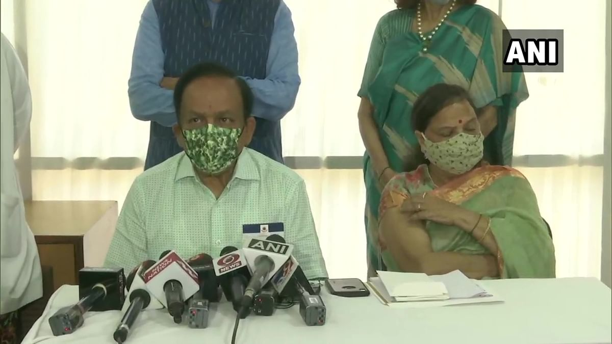 Health Minister Harsh Vardhan, his wife take second dose of COVID-19 vaccine