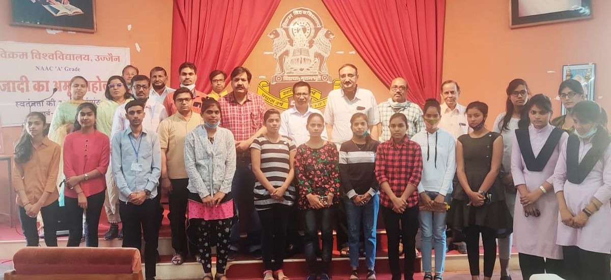 Ujjain: Vikram University organises essay competition,debate under Azadi ka Amrut Mahaotsav