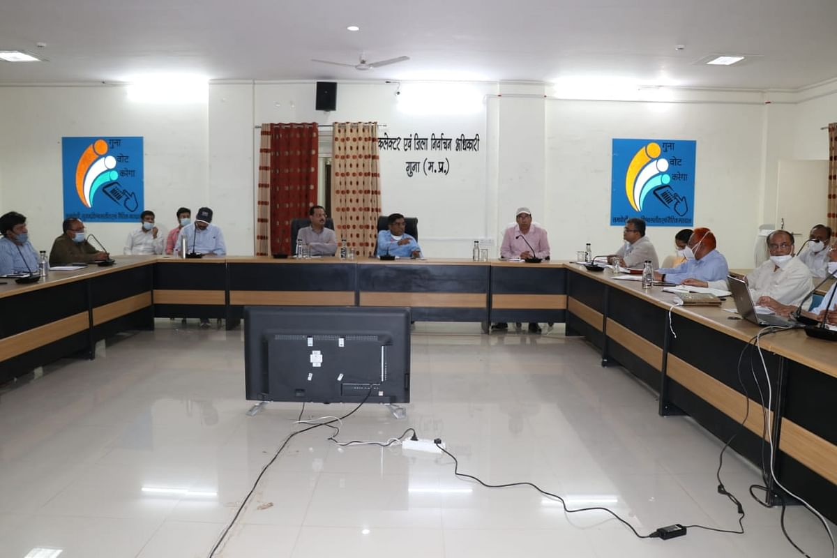 Meeting of District Task Force was held in Guna on Tuesday