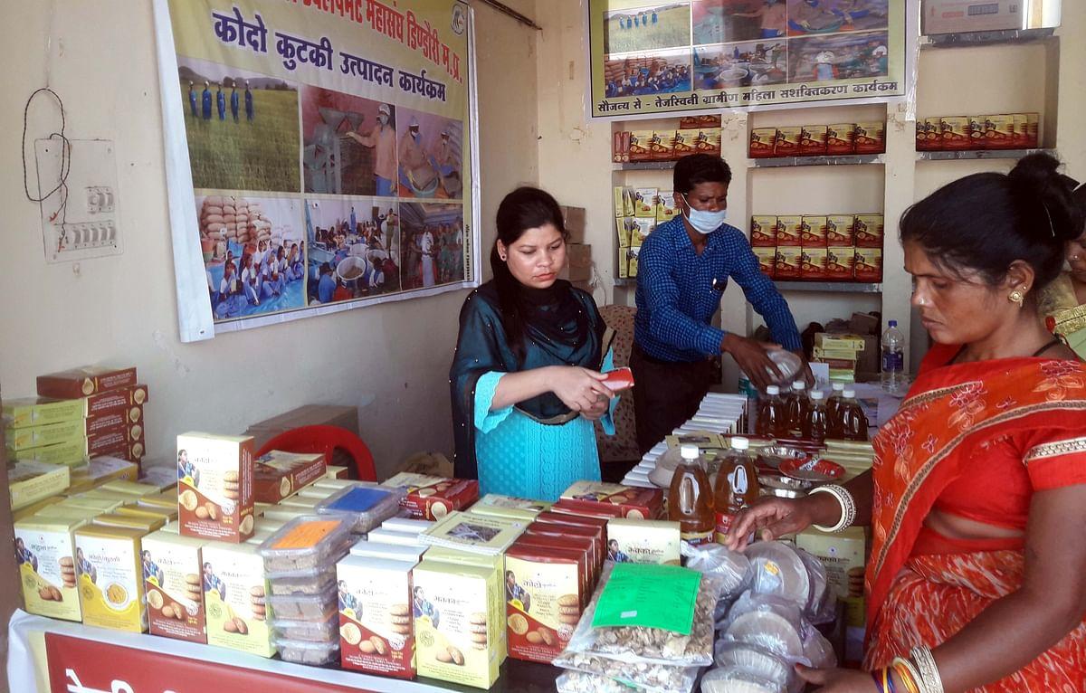 Bhopal: Women SHGs participate in Hunar Haat, a three-day exhibition-cum-sale