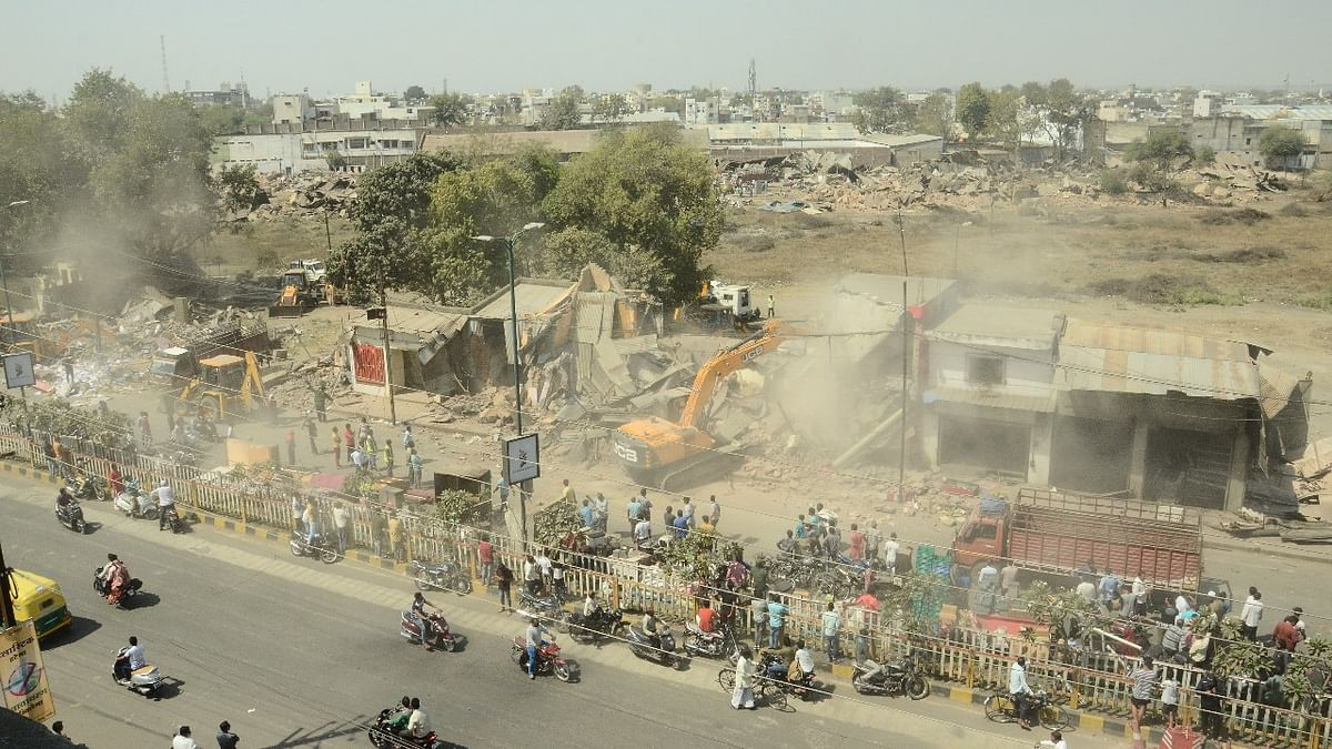 Encroachments being removed
