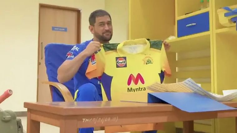 IPL 2021: CSK's new camouflage jersey is a tribute to armed forces; watch MS Dhoni unveil it