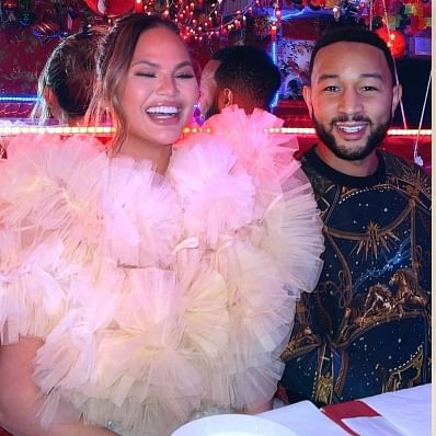 Watch: Chrissy Teigen grooves to Varun Dhawan's 'Jaaneman aah' song at New York restaurant - check out his reaction