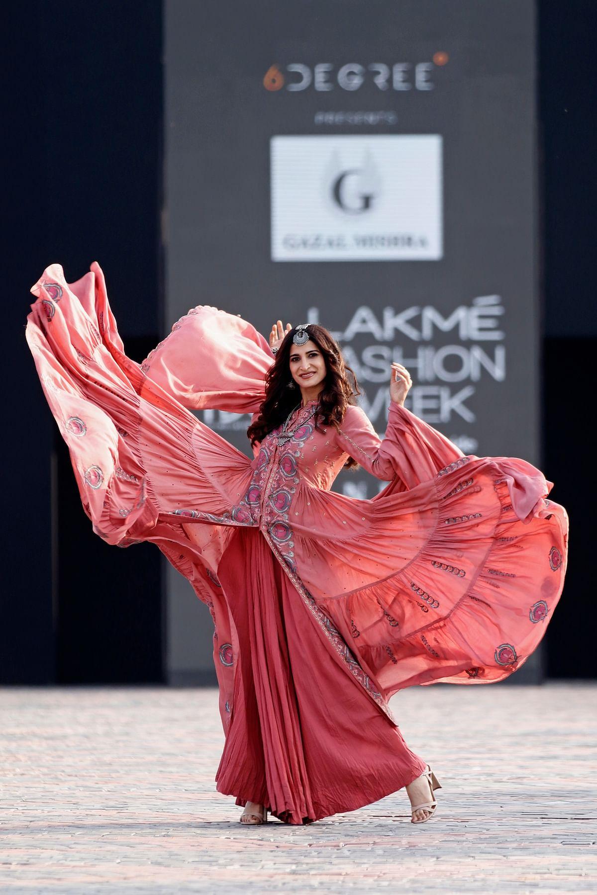 Aahana Kumra wore Gazal Mishra's Uzbek Vintage