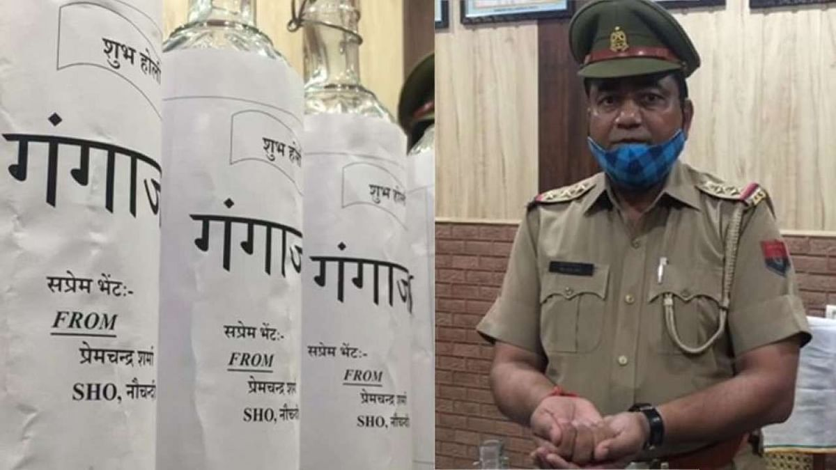 Uttar Pradesh: Cop replaces sanitiser with 'gangajal'; sprinkles it to purify visitors