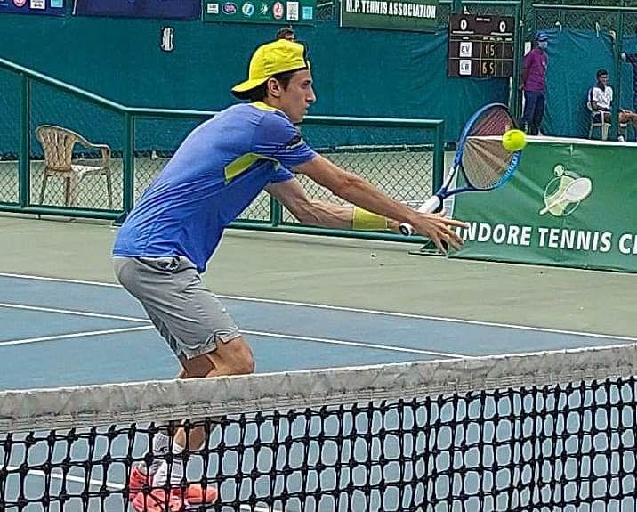 Tennis match in progress on Friday