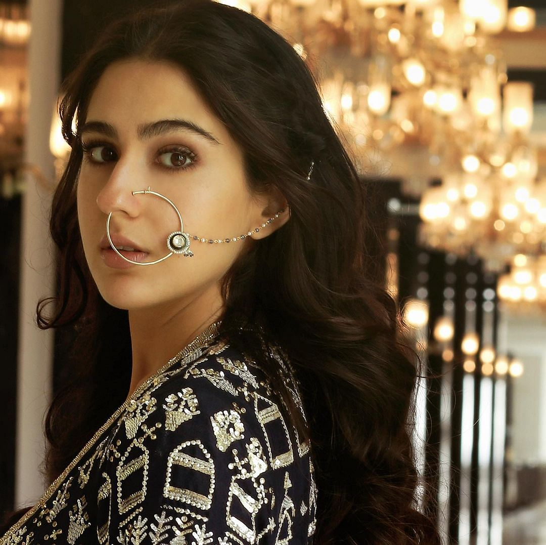 Sara Ali Khan's 'nose ring' moment takes us back to her mother Amrita Singh's wedding look