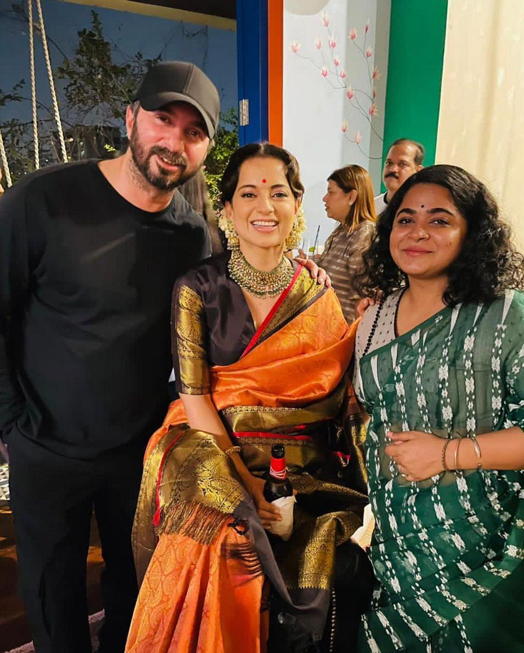 Kangana with Ashwiny Iyer Tiwari