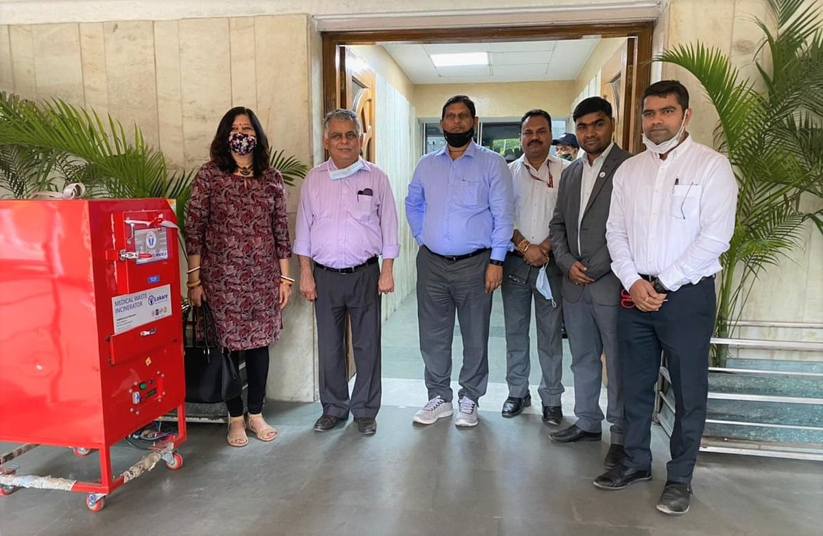 POSOCO provides medical waste incinerator machine to hospital under Swachhta Action Plan