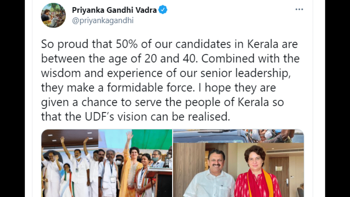 'Minimum age of MLA is 25': Twitterati school Congress' Priyanka Gandhi Vadra over her 'candidates between age of 20-40 years' gaffe