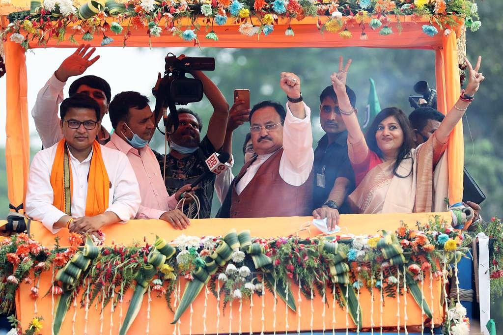 'Khela shesh hoye gyache': BJP's JP Nadda, Smriti Irani slam Mamata Banerjee, TMC over 'Khela Hobe' slogan in West Bengal
