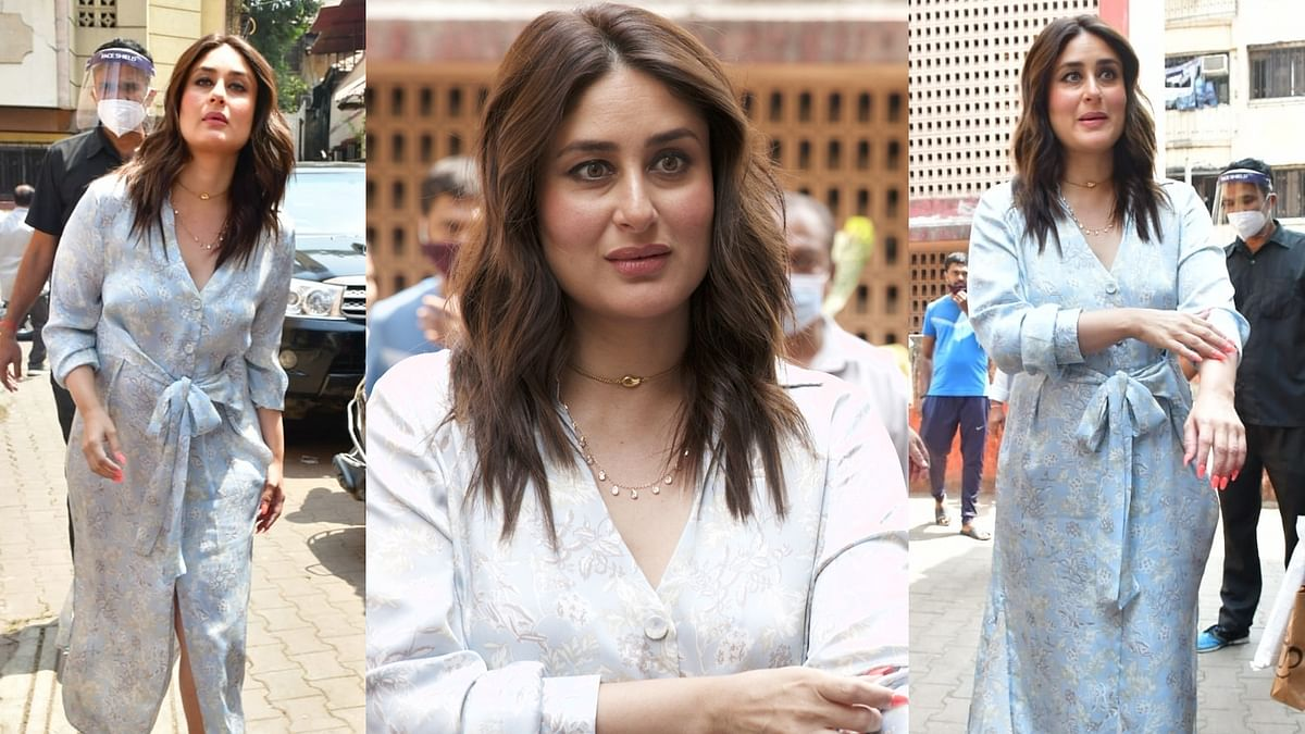Now, you can get Kareena Kapoor Khan's sky blue floral midi dress for less than Rs 5,000!