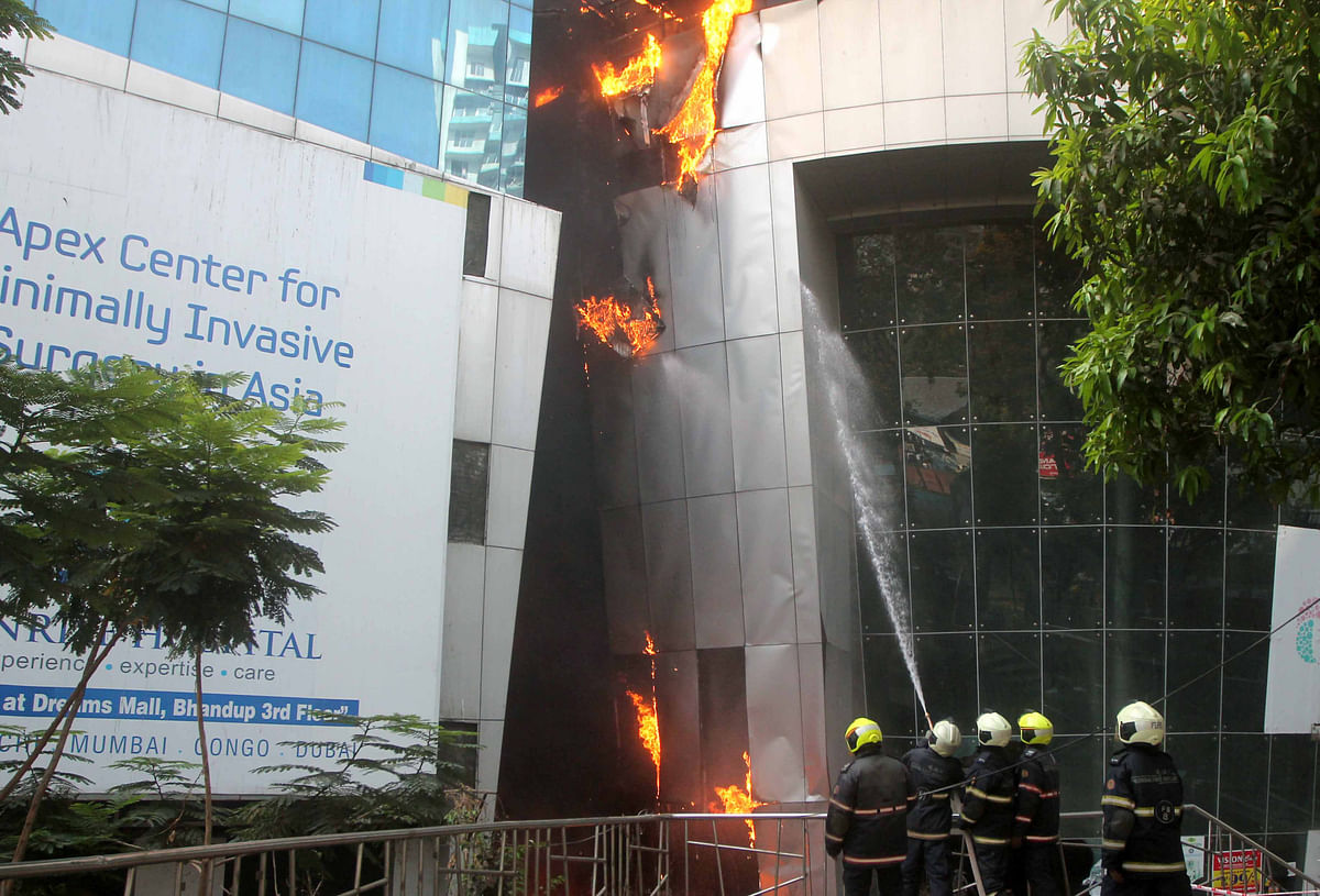Nine patients died in the blaze at Sunrise Hospital inside Dreams Mall, Bhandup Photo BL Soni